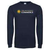Navy Long Sleeve T Shirt-Texas A&M University Commerce