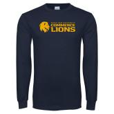 Navy Long Sleeve T Shirt-TAMUC Lions