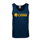 Navy Tank Top-Flat A&M Commerce Lions