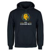 Navy Fleece Hoodie-Mascot AM Commerce