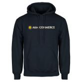 Navy Fleece Hoodie-AM Commerce