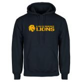 Navy Fleece Hoodie-AM Commerce Lions