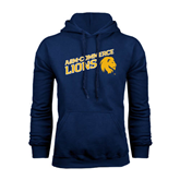 Navy Fleece Hoodie-Angled A&M Commerce Lions