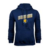 Navy Fleece Hoodie-Angled Lets Go Lions