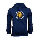 Navy Fleece Hoodie-A&M Commerce Round Design