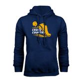 Navy Fleece Hoodie-Cross Country Shoe Design