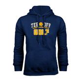 Navy Fleece Hoodie-Tee Off Golf Design