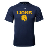 Under Armour Navy Tech Tee-Stacked Lions with Head