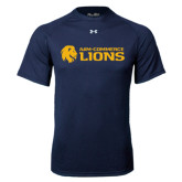 Under Armour Navy Tech Tee-Flat A&M Commerce Lions