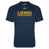 Under Armour Navy Tech Tee-Lions Cross Country