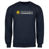 Navy Fleece Crew-Texas A&M University Commerce