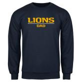 Navy Fleece Crew-Lions Dad