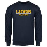 Navy Fleece Crew-Lions Alumni