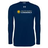 Under Armour Navy Long Sleeve Tech Tee-Texas A&M University Commerce