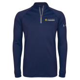 Under Armour Navy Tech 1/4 Zip Performance Shirt-Texas A&M University Commerce