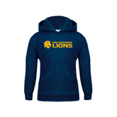 Youth Navy Fleece Hoodie-Flat A&M Commerce Lions