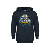 Youth Navy Fleece Hoodie-2017 National Champions