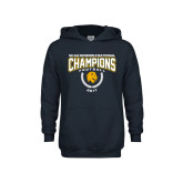 Youth Navy Fleece Hoodie-2017 National Football Champions
