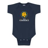 Navy Infant Onesie-Mascot AM Commerce