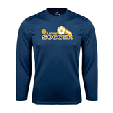 Syntrel Performance Navy Longsleeve Shirt-Soccer Swoosh