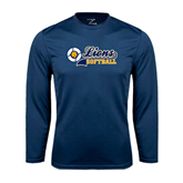 Syntrel Performance Navy Longsleeve Shirt-Softball Script