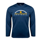 Syntrel Performance Navy Longsleeve Shirt-Arched Football Design
