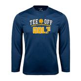 Syntrel Performance Navy Longsleeve Shirt-Tee Off Golf Design