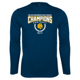 Syntrel Performance Navy Longsleeve Shirt-2017 National Football Champions