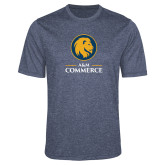 Performance Navy Heather Contender Tee-Mascot AM Commerce