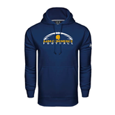 Under Armour Navy Performance Sweats Team Hoodie-Arched Football Design