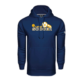 Under Armour Navy Performance Sweats Team Hoodie-Soccer Swoosh