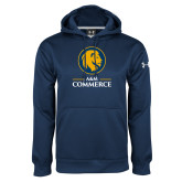 Under Armour Navy Performance Sweats Team Hoodie-Mascot AM Commerce
