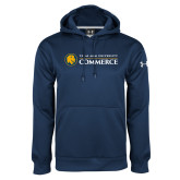 Under Armour Navy Performance Sweats Team Hoodie-Texas A&M University Commerce