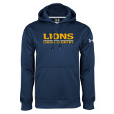Under Armour Navy Performance Sweats Team Hoodie-Lions Cross Country