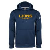 Under Armour Navy Performance Sweats Team Hoodie-Lions Football