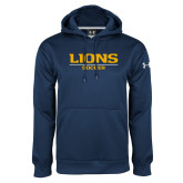 Under Armour Navy Performance Sweats Team Hoodie-Lions Soccer