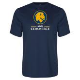 Performance Navy Tee-Mascot AM Commerce