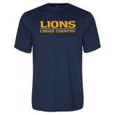 Performance Navy Tee-Lions Cross Country