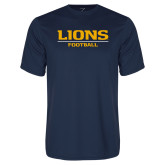 Performance Navy Tee-Lions Football