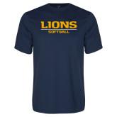 Performance Navy Tee-Lions Softball