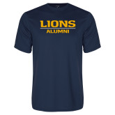 Performance Navy Tee-Lions Alumni