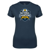 Ladies Syntrel Performance Navy Tee-2017 National Champions