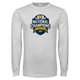 White Long Sleeve T Shirt-2017 National Champions