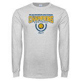 White Long Sleeve T Shirt-2017 National Football Champions