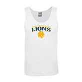 White Tank Top-Arched A&M Commerce Lions