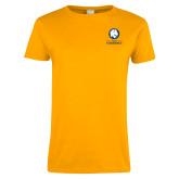 Ladies Gold T Shirt-Mascot AM Commerce