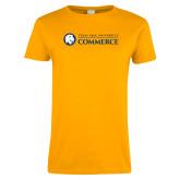 Ladies Gold T Shirt-Texas A&M University Commerce