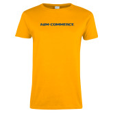Ladies Gold T Shirt-AM Commerce Workmark