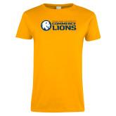 Ladies Gold T Shirt-TAMUC Lions