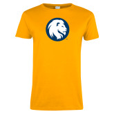 Ladies Gold T Shirt-Mascot